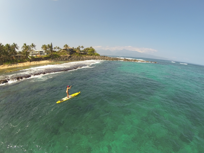 Aerial Video Maui- Stand Up Paddle the North Shore of Maui Hawaii