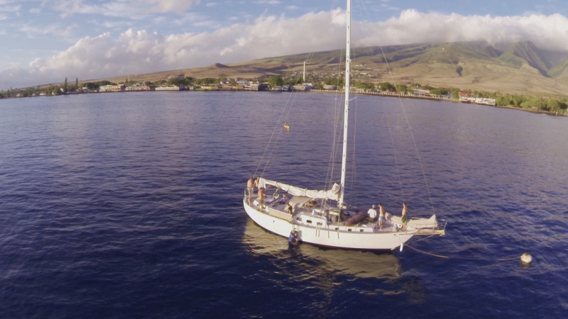 Aerial Video Maui- Sailboating the South Side of Maui, Hawaii